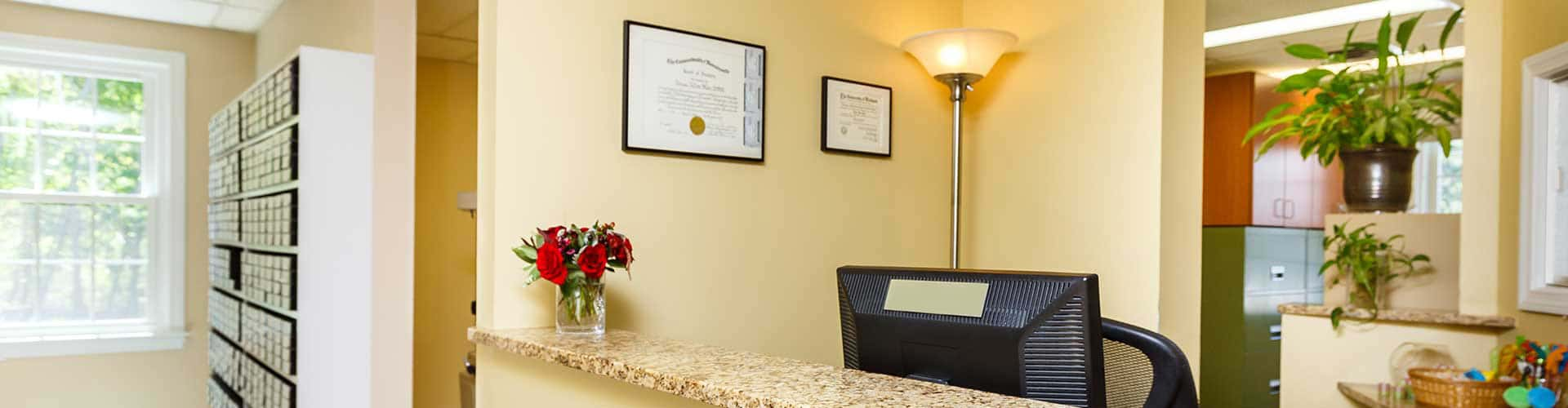 Office Front Desk at Weston Orthodontics in Weston MA